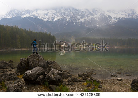 Eibsee Stock Photos, Royalty.