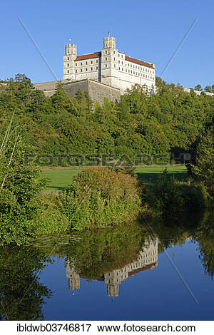 "Picture of ""Willibaldsburg Castle above the Altmuehl river."