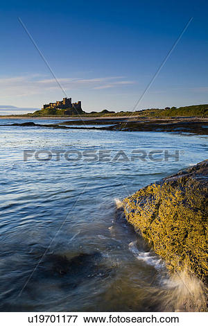 Picture of England, Northumberland, Bamburgh, Bamburgh Castle.