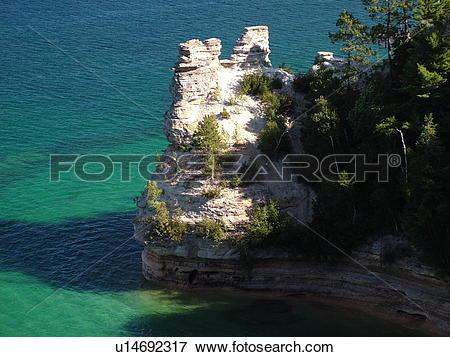 Picture of Munising, MI, Michigan, Lake Superior, Pictured Rocks.