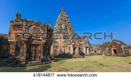 Picture of Castle rocks in Thailand.Prasat Phanom Rung. Buriram.