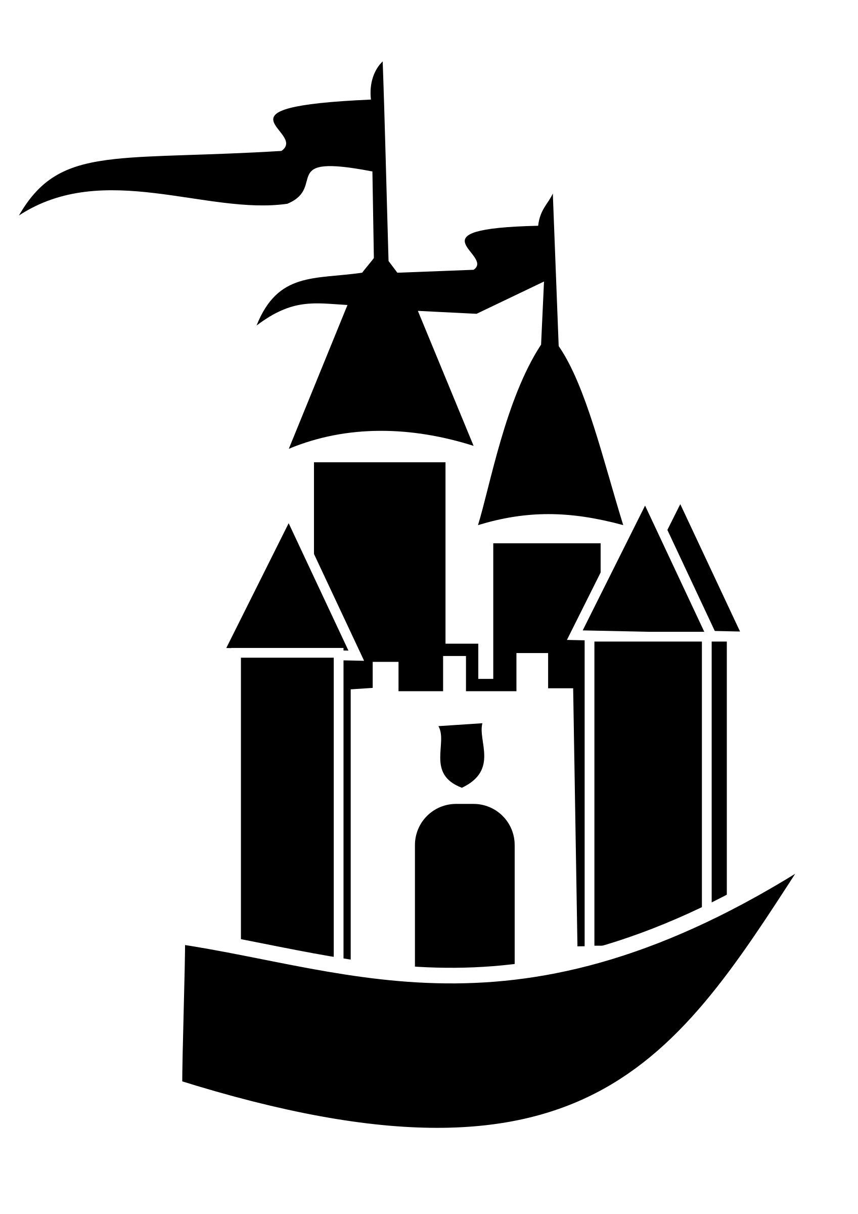 Castle of time vector clipart.