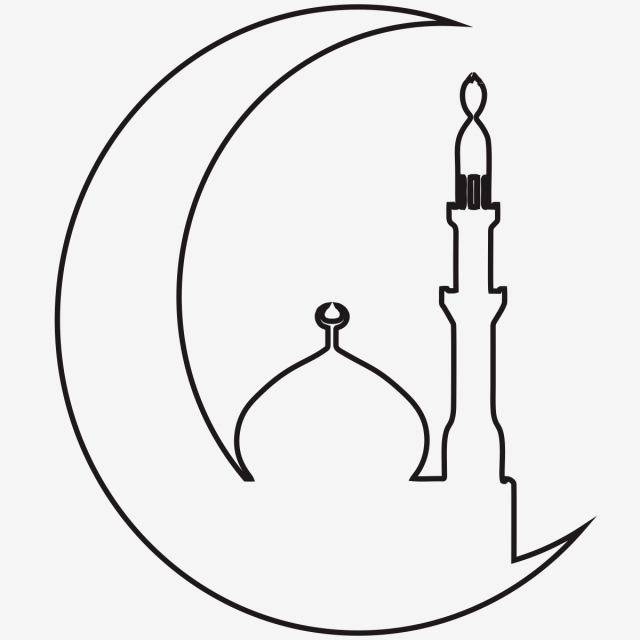 Line Art Eid Ul Adha, Eid, Mubarak, Islam PNG and Vector with.