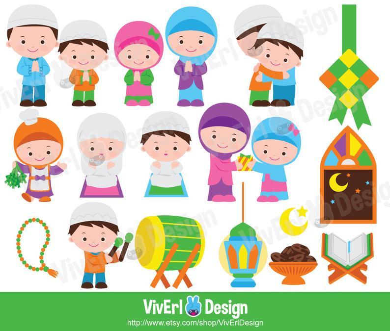 Eid Mubarak Clipart, Ramadan Clipart, Happy Eid Clipart, Muslim Clipart.