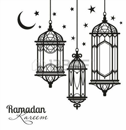 Paper Lantern clipart black and white #13.