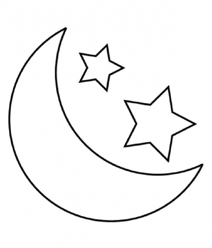 Eid Moon Clipart Black And White.