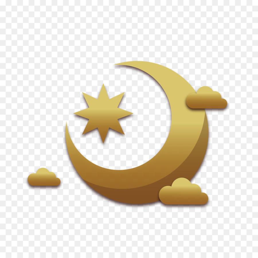 Eid Moon png download.