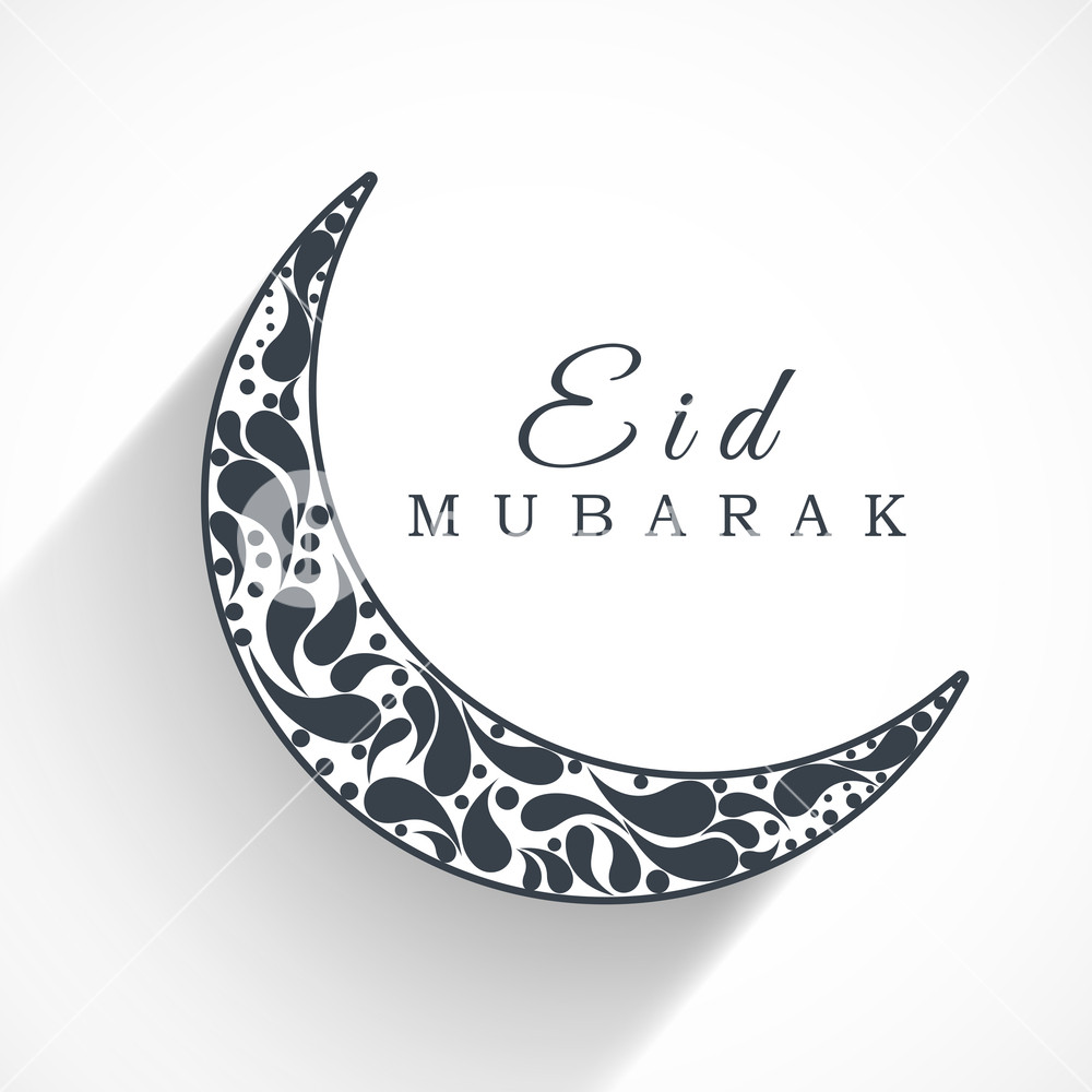 Elegant Moon Design for Eid Mubarak Abstract Background Royalty.