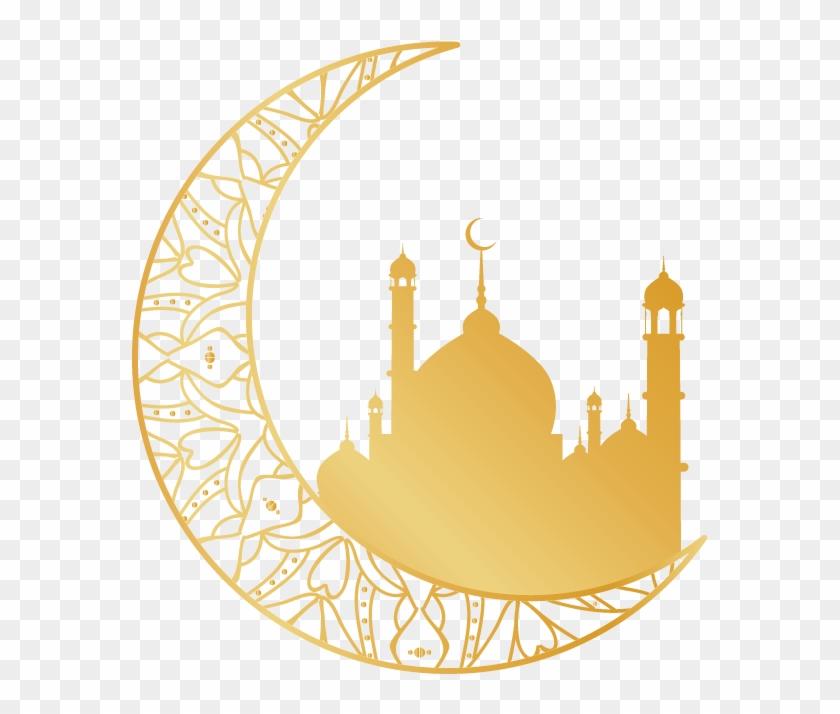 Religion Islam Golden Moon Religious Motifs Transprent.
