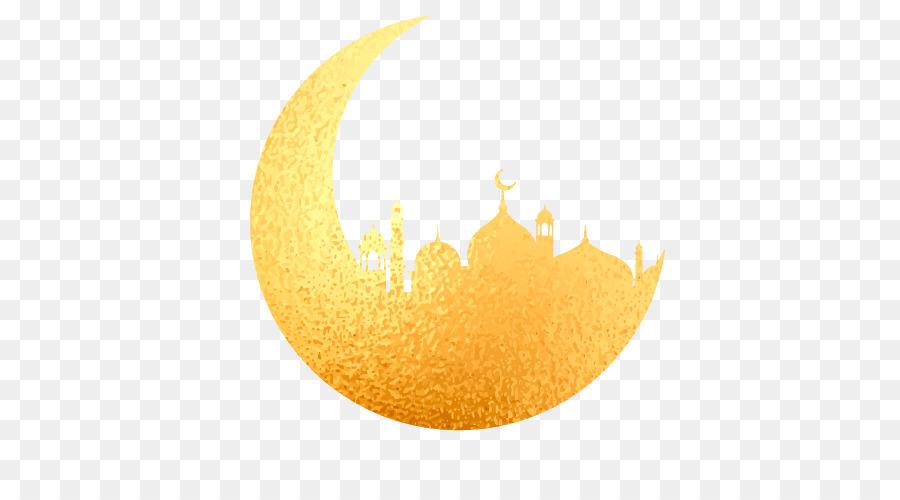 Eid Mubarak Crescent clipart.
