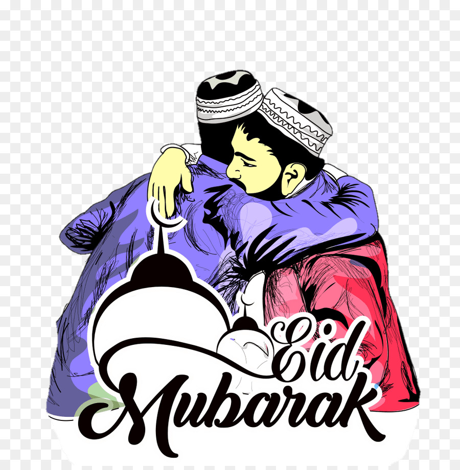 Eid Mubarak Graphic Design png download.