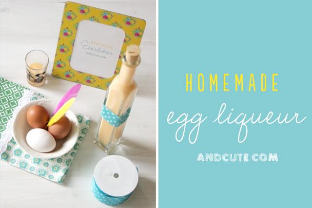 Homemade Egg Liqueur.