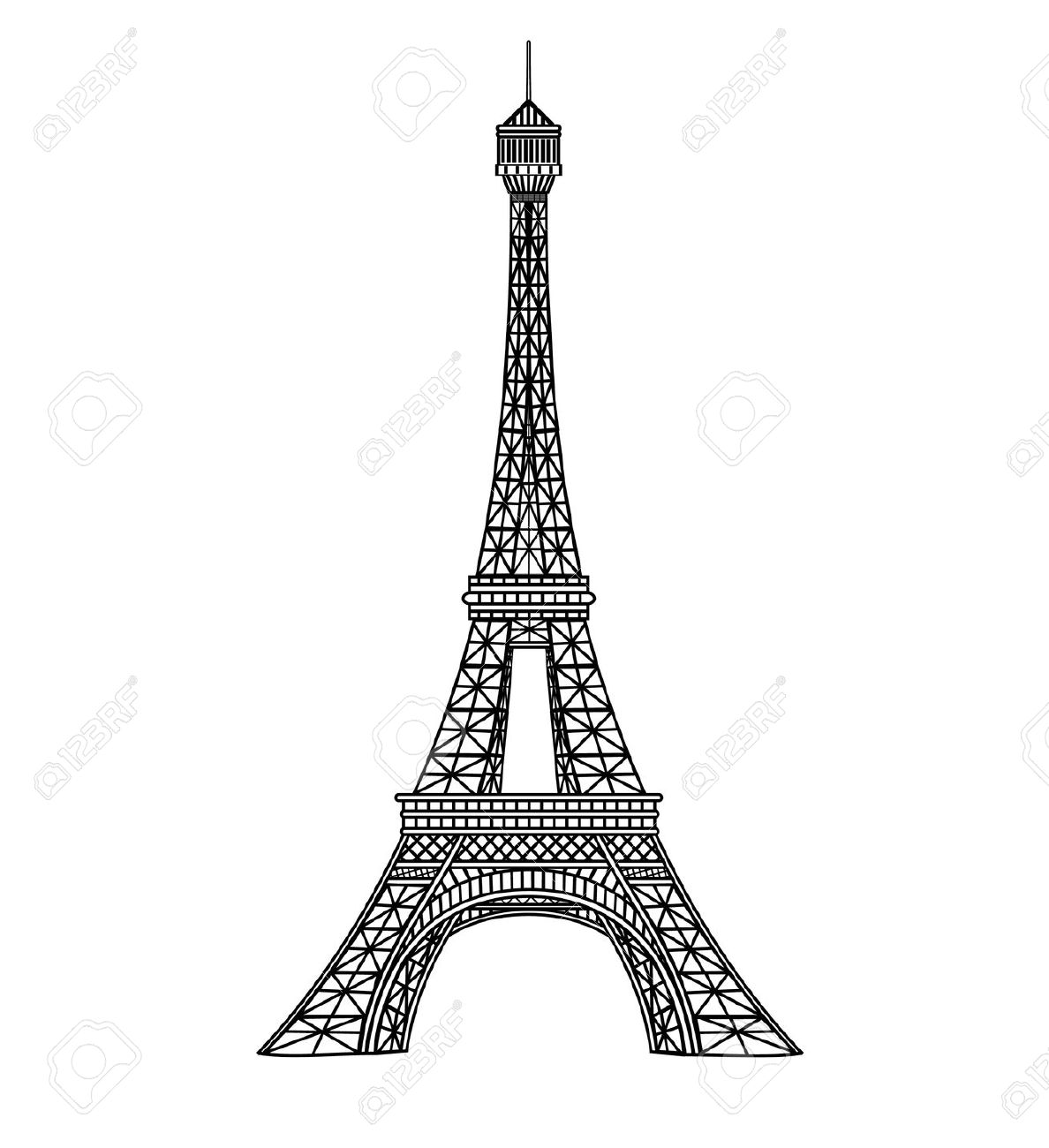 Eiffel Tower Illustration Royalty Free Cliparts, Vectors, And.