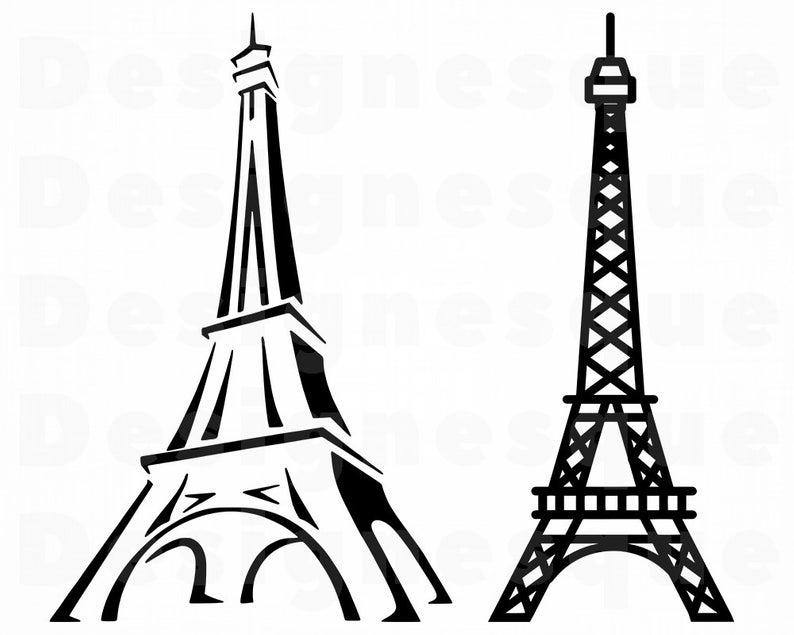 Eiffel Tower SVG, Eiffel Tower Clipart, Eiffel Tower Files for Cricut,  Eiffel Tower Cut Files For Silhouette, Dxf, Png, Eiffel Tower Vector.
