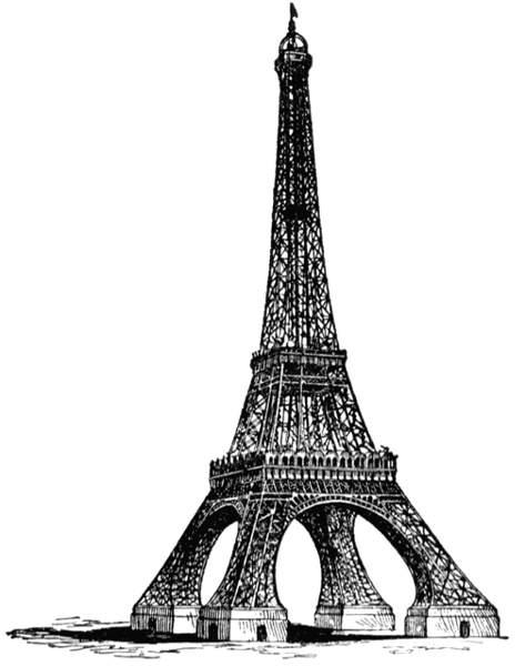 Eiffel tower black deer clip art cwemi images gallery.