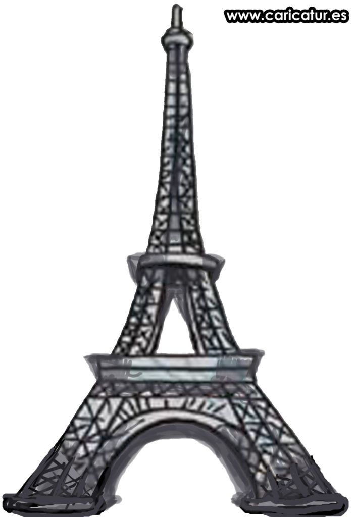 Eiffel Tower Cartoon Clipart.