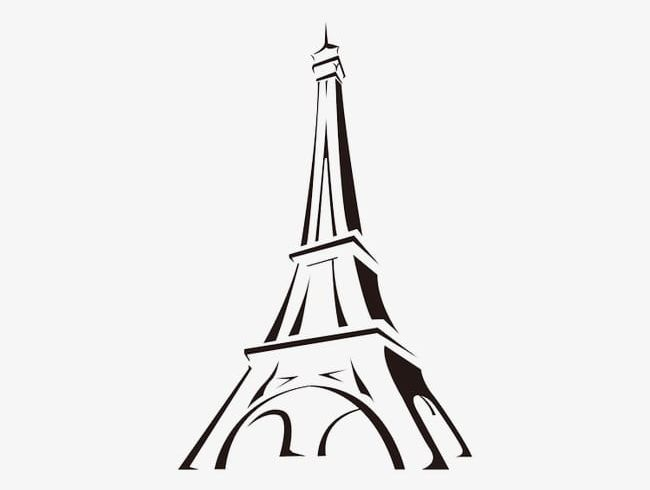 Eiffel Tower Cartoon PNG, Clipart, Black, Cartoon Clipart, Drawing.