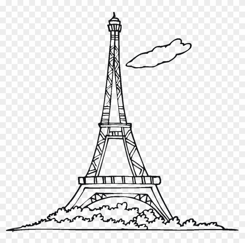 Eiffel Tower Silhouette Png Free Download.