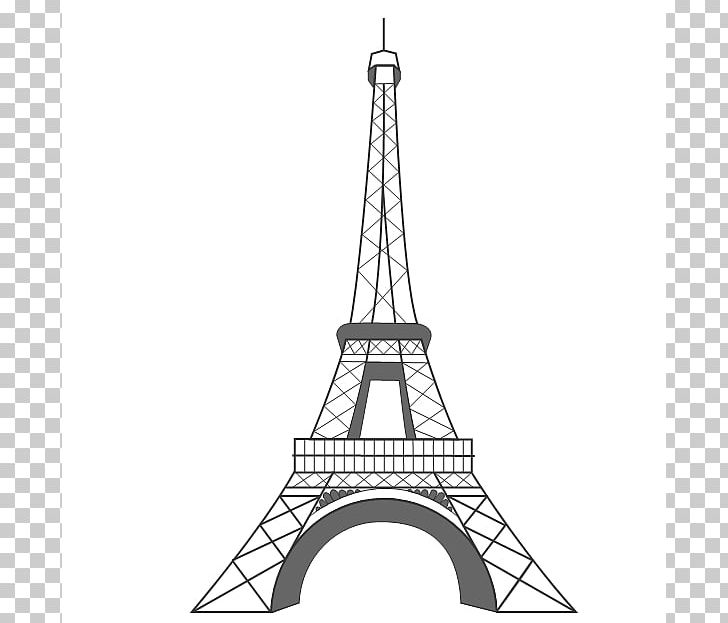 Eiffel Tower Drawing PNG, Clipart, Angle, Black And White, Building.