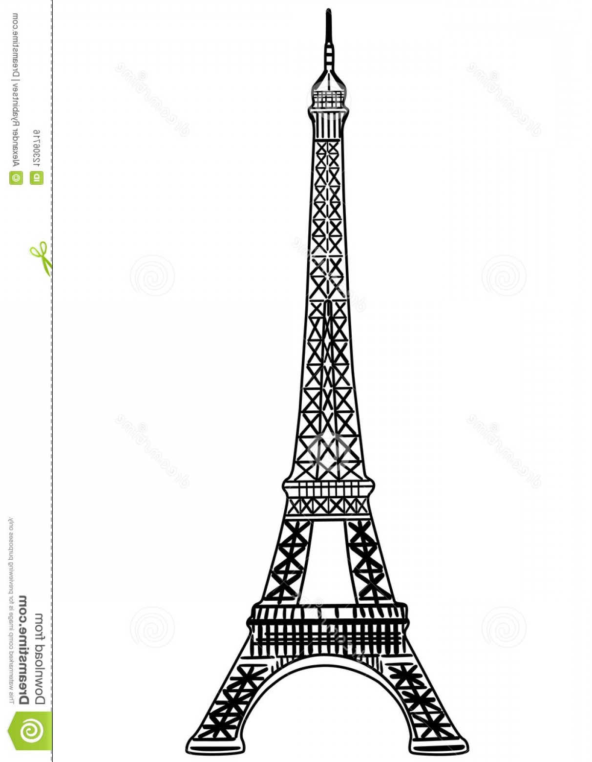 Royalty Free Stock Image Eiffel Tower Vector Illustration Image.
