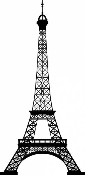 Eiffel tower Free vector in Adobe Illustrator ai can use this.