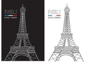 Eiffel Tower Free Vector Art.