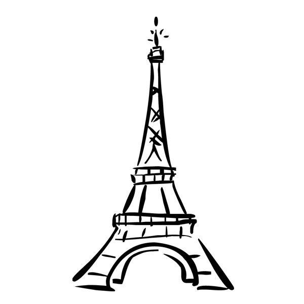 Eiffel Tower Easy Drawing.