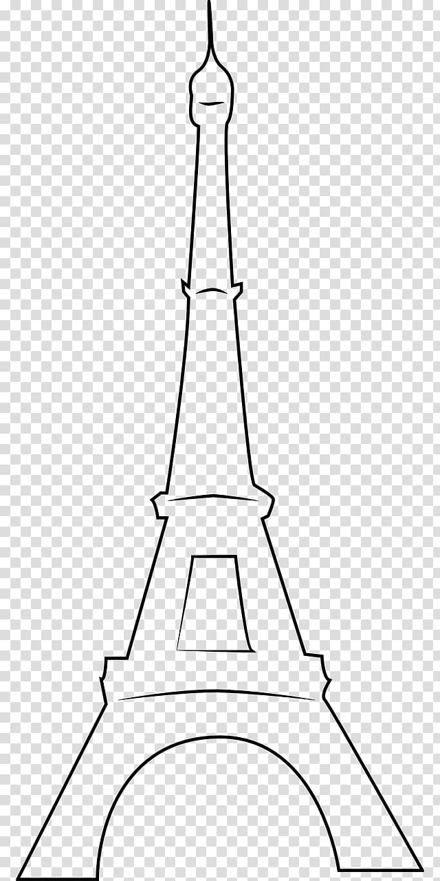 Eiffel Tower Black and white Drawing , eiffel tower transparent.