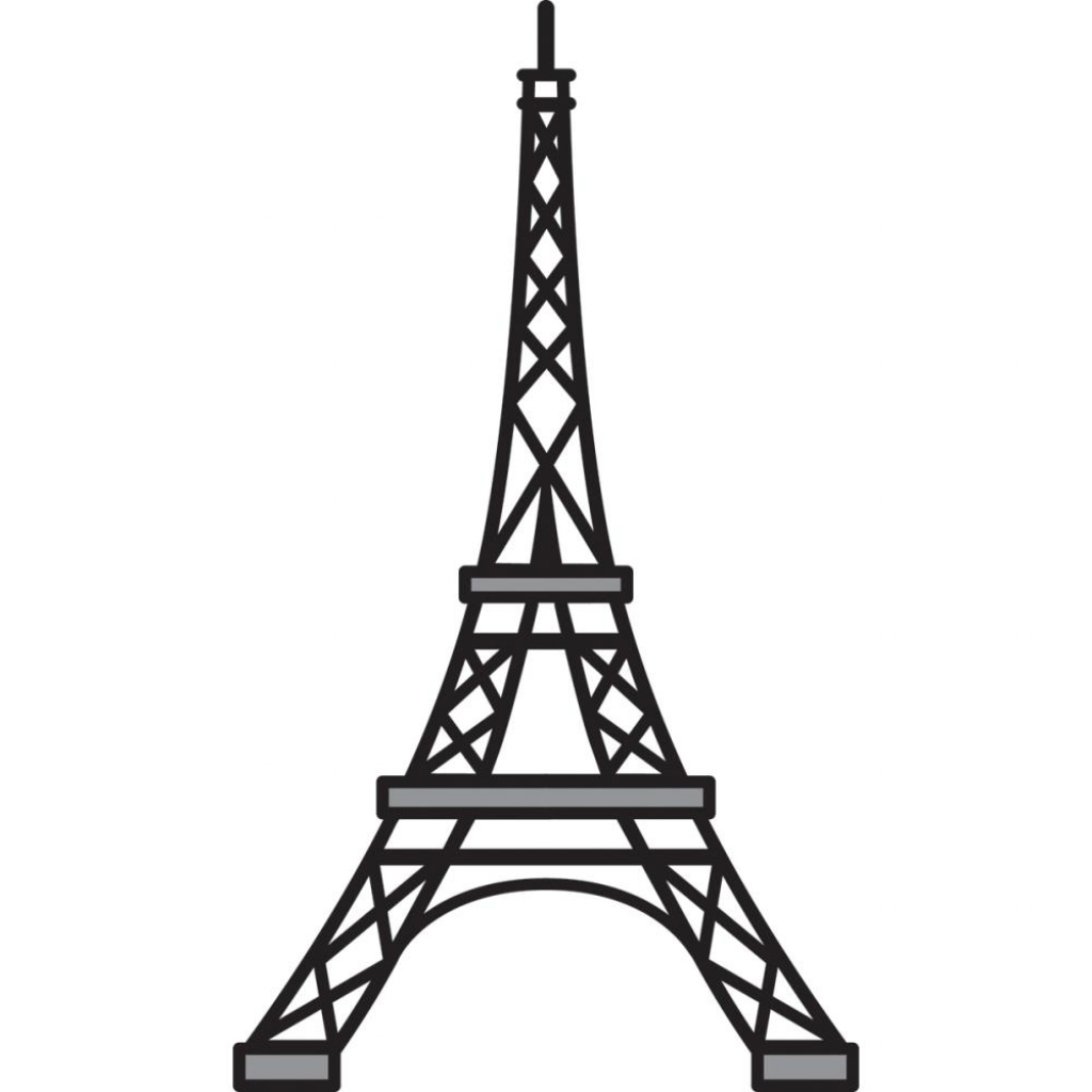 Eiffel Tower Clipart Black And White.