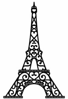 Eiffel tower clipart black and white 2 » Clipart Station.