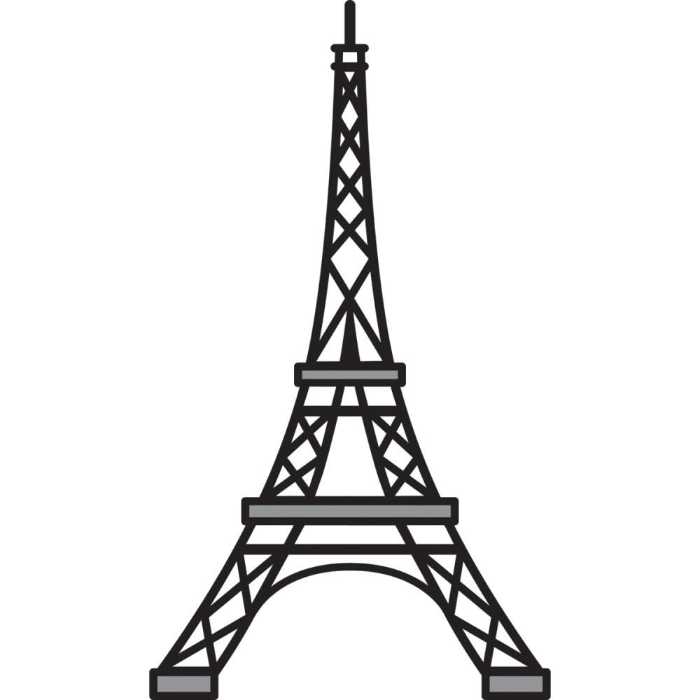 Eiffel tower stencil dromgfk top cliparts.