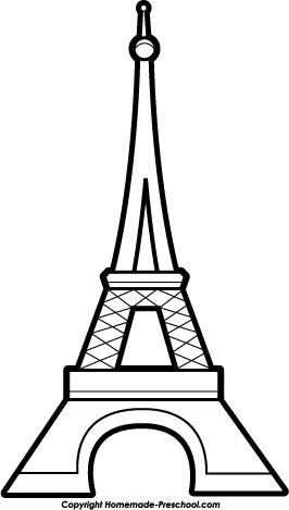 1698 Eiffel Tower free clipart.