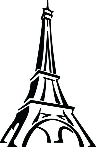 Easy Eiffel Tower Drawing at GetDrawings.com.