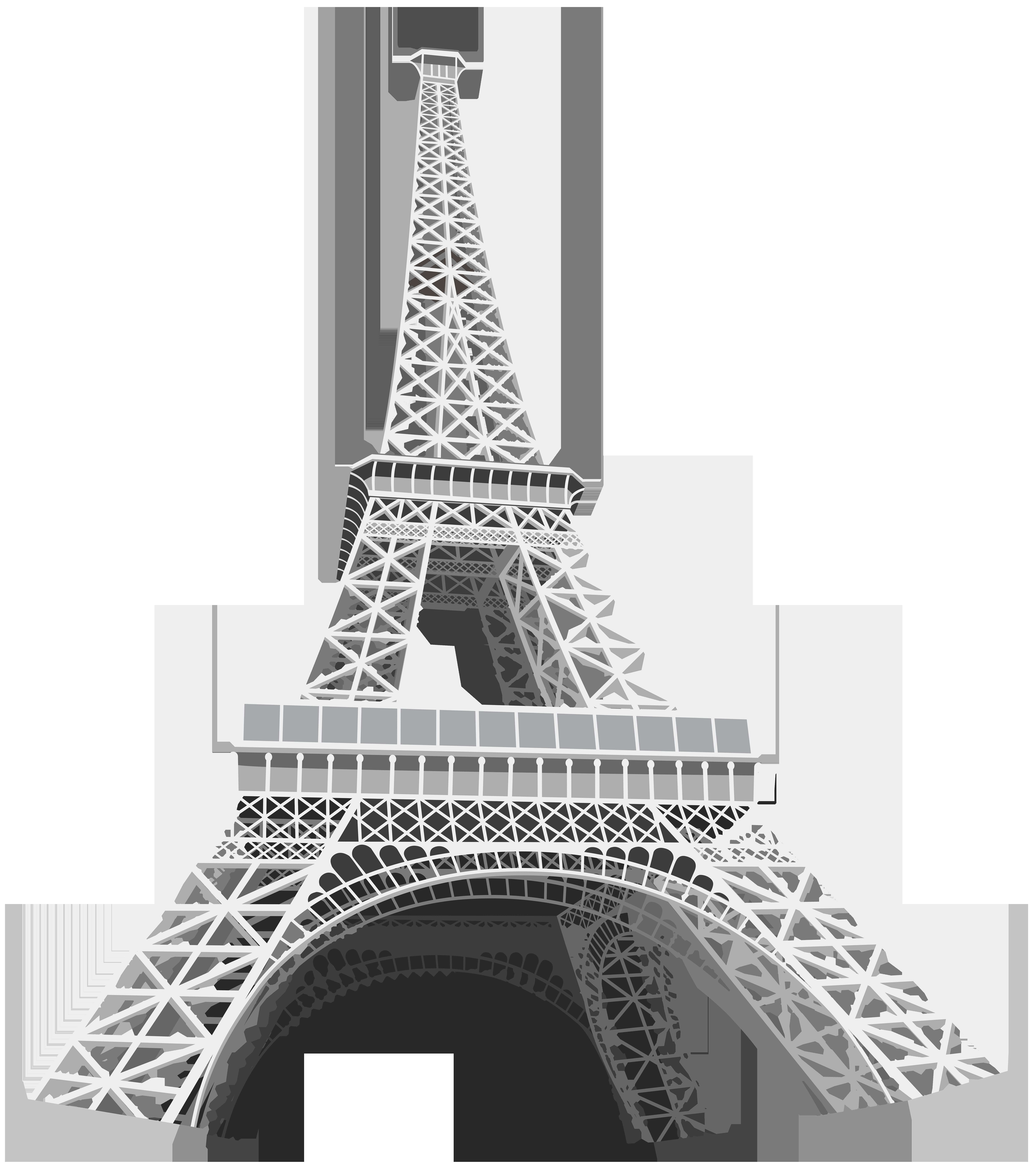 Eiffel Tower Transparent Clip Art Image.