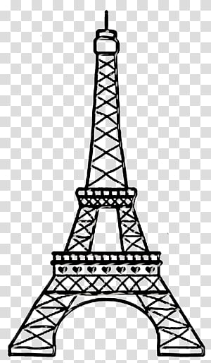 Eiffel Tower Silhouette Drawing, eiffel tower transparent background.