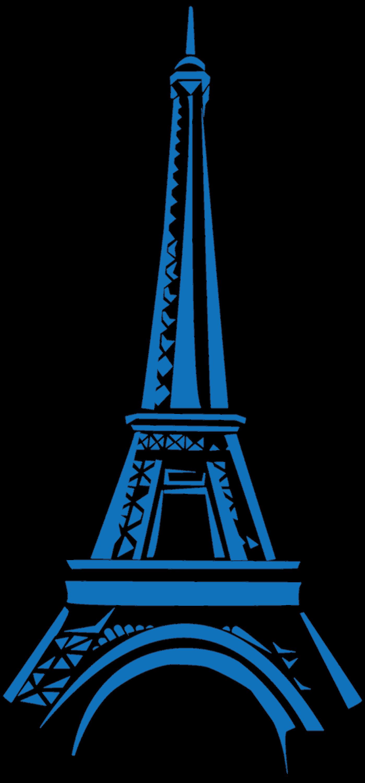 Eifel Tower Blue Clipart transparent PNG.
