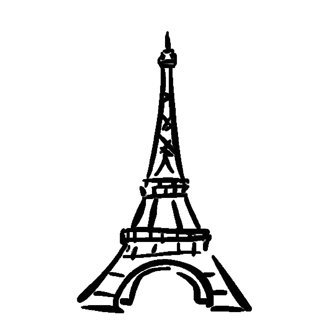 Eiffel Tower Drawing Clip art.