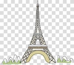 Travel scape, Eiffel Tower, Paris transparent background PNG.
