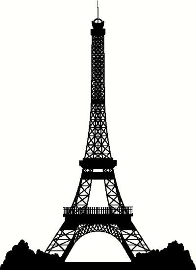 Silhouette Eiffel Tower Free.