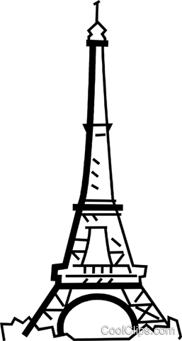 Eiffel Tower Royalty Free Vector Clip Art illustration.