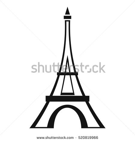 Silhouette Eiffel Tower at GetDrawings.com.