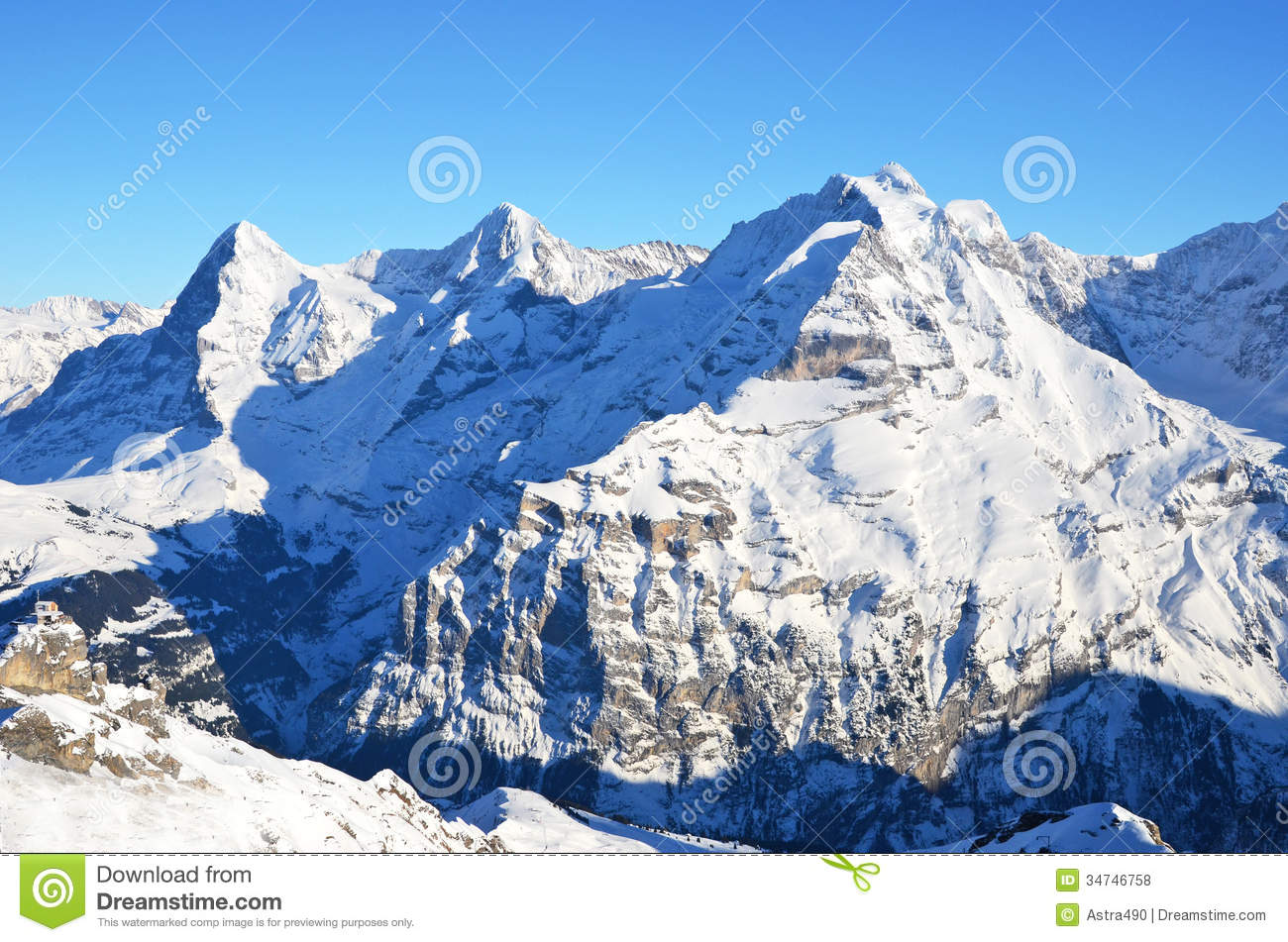 Eiger, Moench And Jungfrau Royalty Free Stock Images.