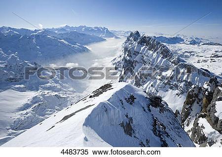 Stock Image of Wendenstoecke, Eiger, Moench, Jungfrau and.