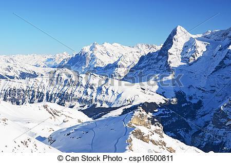 Stock Photography of Eiger, famous Swiss mountain peak csp16500811.
