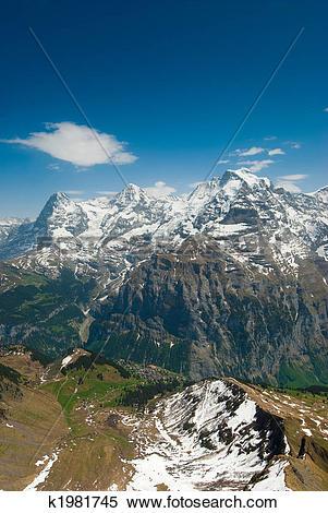 Stock Image of Eiger, Moench, Jungfrau k1981745.