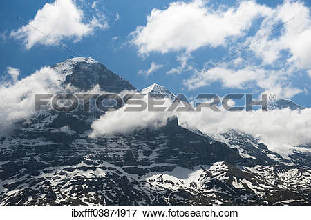 "Picture of ""Eiger, Eiger north face, Monch, Jungfrau, Grindelwald."
