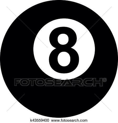 Pool Eight ball Clipart.
