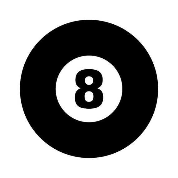 8 Ball Pool Cue Billiards vector .eps, .dxf, svg, & a .png Vinyl Cutter  Ready, T.