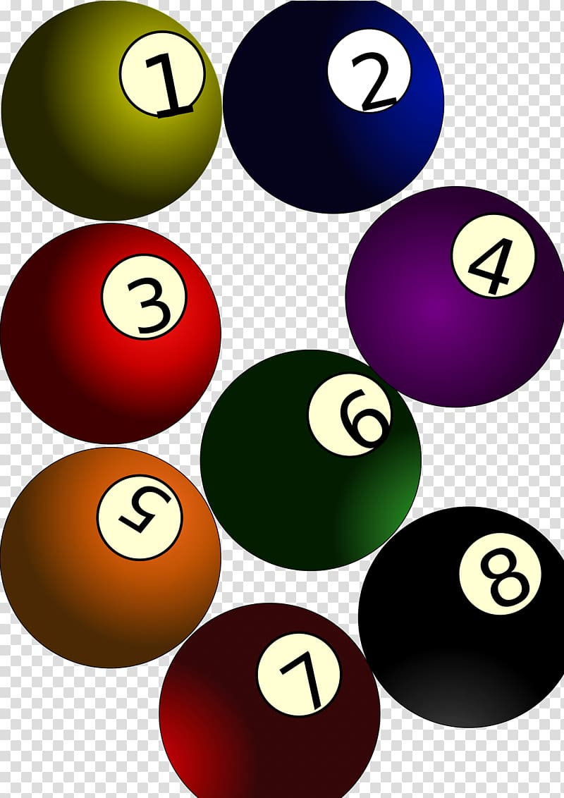 Billiard Balls Eight.