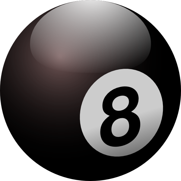 Glossy eight ball png #26228.